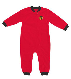 Chicago Blackhawks Fleece Toddler Sleeper Pajamas - 3T