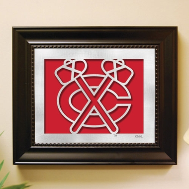Chicago Blackhawks Framed Laser Cut Metal Wall Art