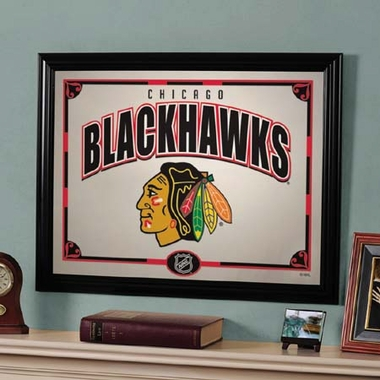 Chicago Blackhawks Framed Mirror