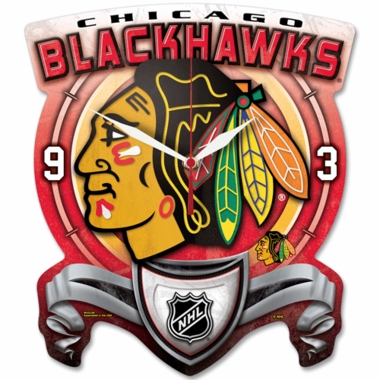 Chicago Blackhawks High Definition Wall Clock