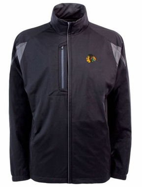 Chicago Blackhawks Mens Highland Water Resistant Jacket (Team Color: Black)