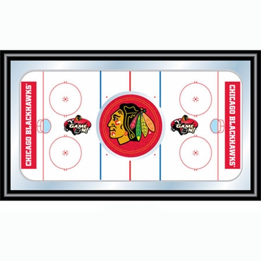 Chicago Blackhawks Hockey Bar Mirror
