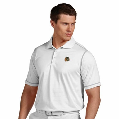 Chicago Blackhawks Mens Icon Polo (Color: White)