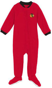 Chicago Blackhawks Infant Footed Sleeper Pajamas - 12 Months