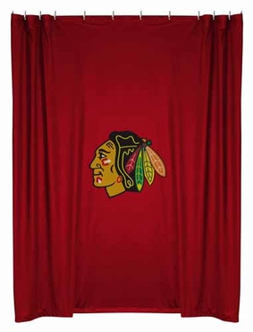 Chicago Blackhawks Jersey Material Shower Curtain