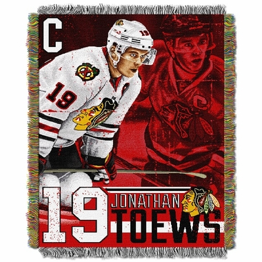 Chicago Blackhawks Johnathan Toews Jacquard Woven Blanket