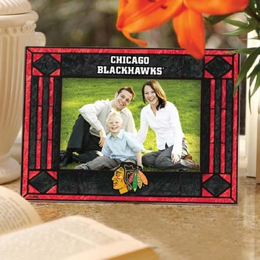 Chicago Blackhawks Landscape Art Glass Picture Frame