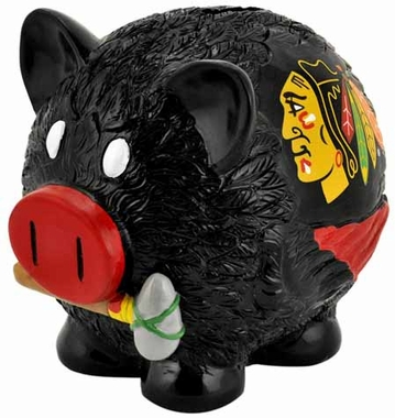 Chicago Blackhawks Large Thematic Piggy Bank