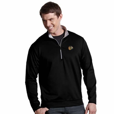 Chicago Blackhawks Mens Leader Pullover (Team Color: Black)