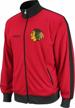 Chicago Blackhawks Lord Stanley Full Zip Championship Track Jacket