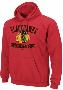"Chicago Blackhawks Majestic ""Tape to Tape"" Hooded Sweatshirt - Red"