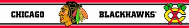 Chicago Blackhawks Peel and Stick Wallpaper Border