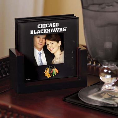 Chicago Blackhawks Photo Coaster Set