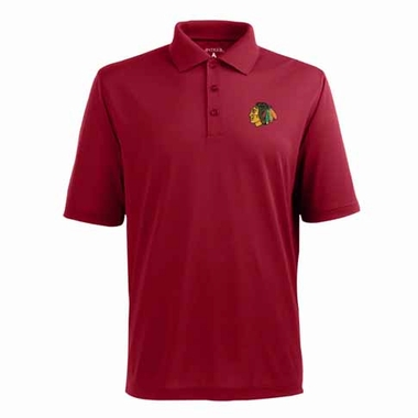 Chicago Blackhawks Mens Pique Xtra Lite Polo Shirt (Alternate Color: Red)