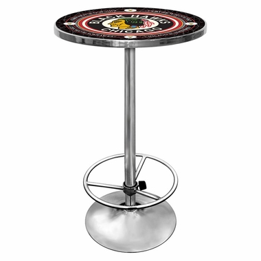 Chicago Blackhawks Pub Table (Vintage)