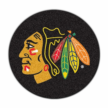 Chicago Blackhawks Puck Shaped Rug