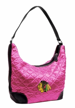 Chicago Blackhawks Quilted Hobo Purse
