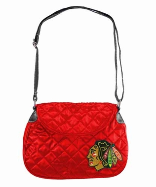 Chicago Blackhawks Quilted Saddlebag