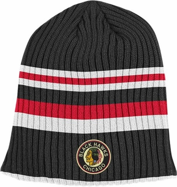Chicago Blackhawks Retro Reversible Cuffless Knit Hat