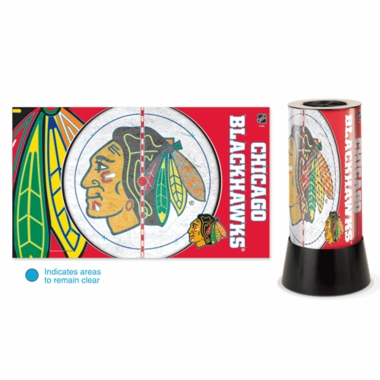 Chicago Blackhawks Rotating Lamp