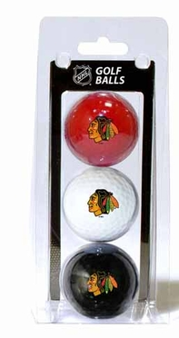 Chicago Blackhawks Set of 3 Multicolor Golf Balls