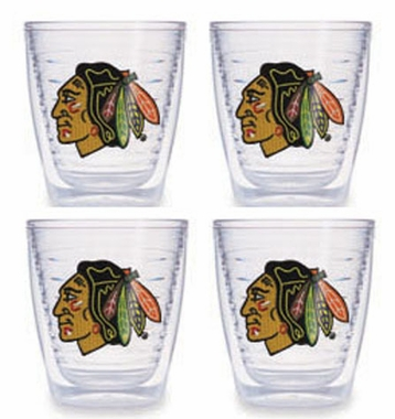 Chicago Blackhawks Set of FOUR 12 oz. Tervis Tumblers