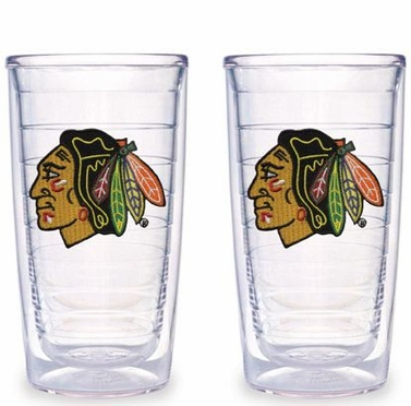 Chicago Blackhawks Set of TWO 16 oz. Tervis Tumblers
