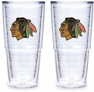 "Chicago Blackhawks Set of TWO 24 oz. ""Big T"" Tervis Tumblers"