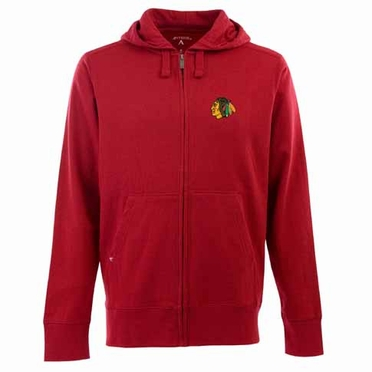 Chicago Blackhawks Mens Signature Full Zip Hooded Sweatshirt (Alternate Color: Red)