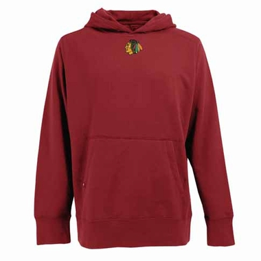 Chicago Blackhawks Mens Signature Hooded Sweatshirt (Alternate Color: Red)