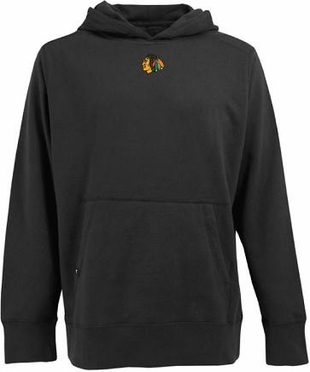 Chicago Blackhawks Mens Signature Hooded Sweatshirt (Team Color: Black)