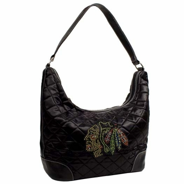Chicago Blackhawks Sport Noir Quilted Hobo