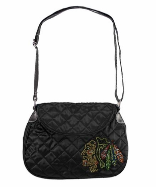 Chicago Blackhawks Sport Noir Quilted Saddlebag