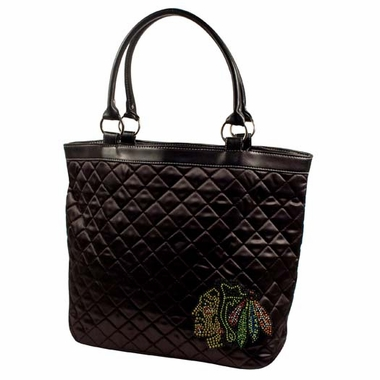 Chicago Blackhawks Sport Noir Quilted Tote