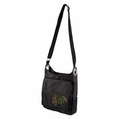 Chicago Blackhawks Sport Noir Sheen Crossbody Bag