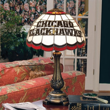 Chicago Blackhawks Stained Glass Table Lamp