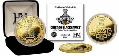 Chicago Blackhawks Chicago Blackhawks 2010 Stanley Cup Champions 24KT Gold Coin