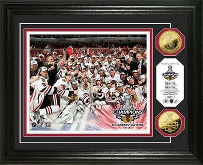 Chicago Blackhawks Chicago Blackhawks 2010 Stanley Cup Champions Celebration 24KT Gold Coin Photo Mint