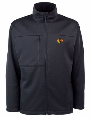 Chicago Blackhawks Mens Traverse Jacket (Team Color: Black)