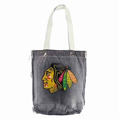 Chicago Blackhawks Vintage Shopper (Black)