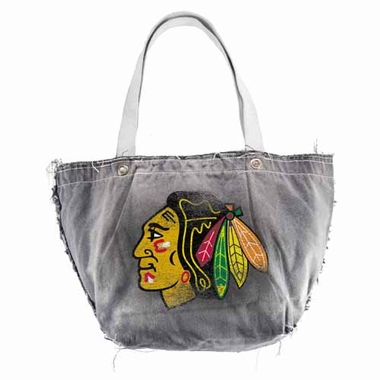 Chicago Blackhawks Vintage Tote (Black)