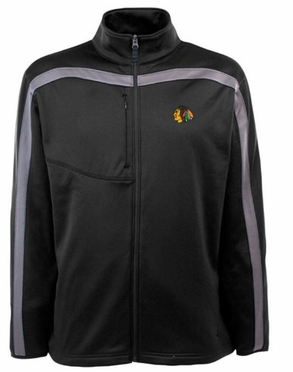 Chicago Blackhawks Mens Viper Full Zip Performance Jacket (Team Color: Black)