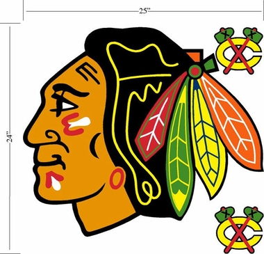 Chicago Blackhawks Wallmarx Large Wall Decal
