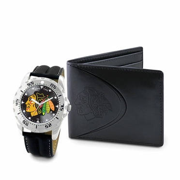 Chicago Blackhawks Watch and Wallet Gift Set