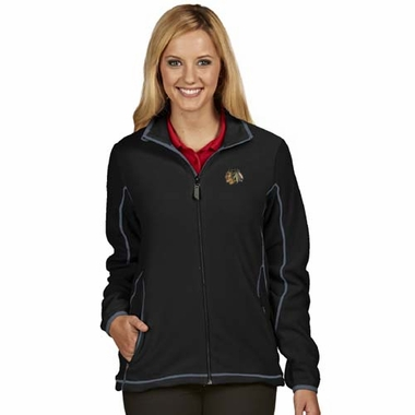 Chicago Blackhawks Womens Ice Polar Fleece Jacket (Team Color: Black)