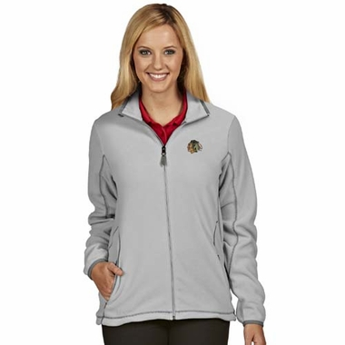 Chicago Blackhawks Womens Ice Polar Fleece Jacket (Color: Gray)