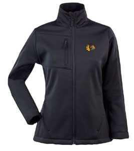 Chicago Blackhawks Womens Traverse Jacket (Team Color: Black) - Small