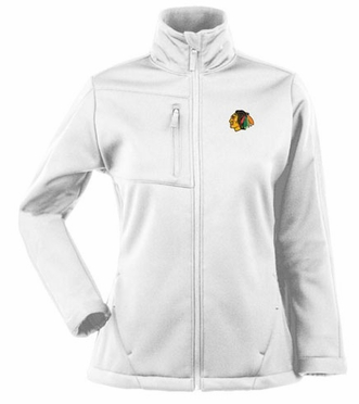 Chicago Blackhawks Womens Traverse Jacket (Color: White)