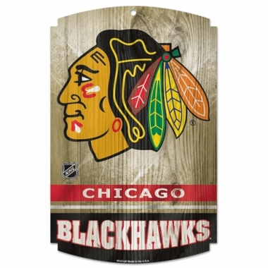Chicago Blackhawks Wood Sign