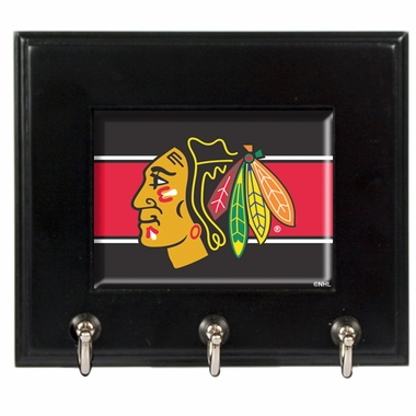 Chicago Blackhawks Wooden Keyhook Rack